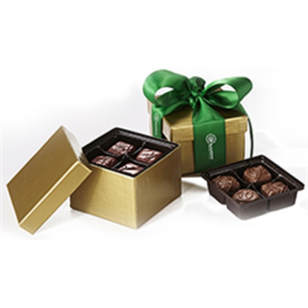 Gift Box 8 pcs Milk Chocolate Meltaways w/ Ribbon