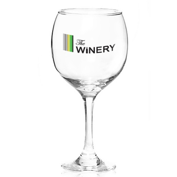 Clear customized premiere wine glass