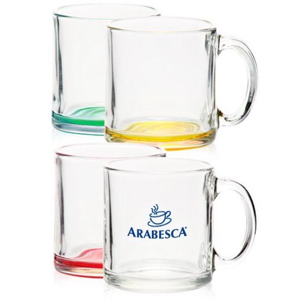 Clear Libbey 13 oz glass coffee mug
