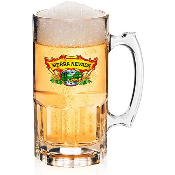 Clear 34 oz. super sports beer mug / pitcher