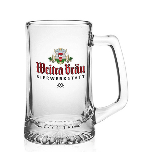 Clear 25 oz Arc sports beer mug