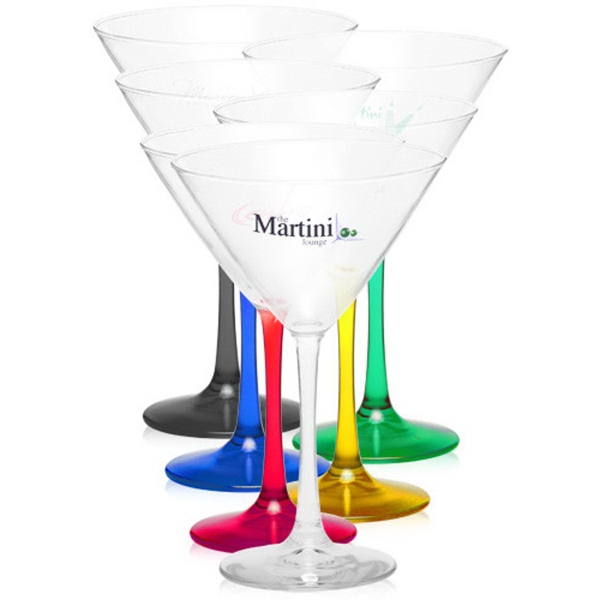 Clear 10 oz tall martini glass