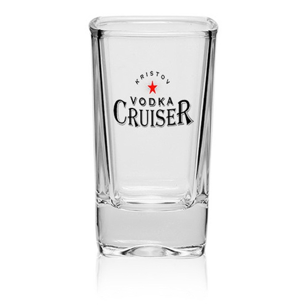 Clear 2.8 oz. Arc Square Dessert Shot Glass
