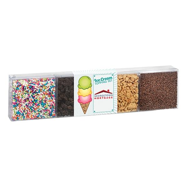 4 Way Ice Cream Topping Set - Large