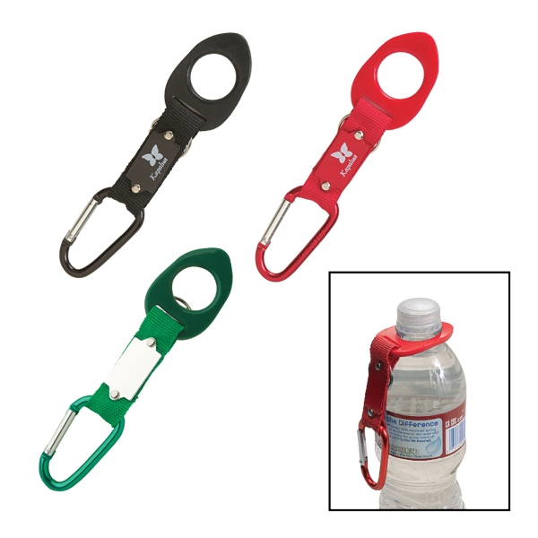 Aluminum Carabiner And Plate With Bottle Holder