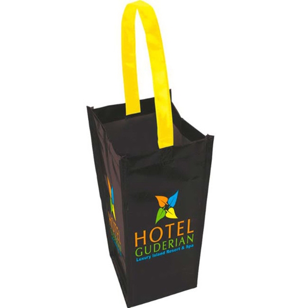 Laminated Non-Woven 1 Bottle Tote Bag