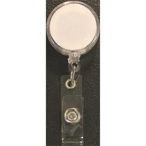 "Round 24"" retractable badge holder"