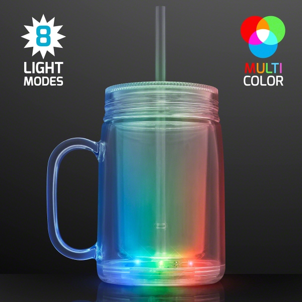 LED Mason Jar Travel Cup