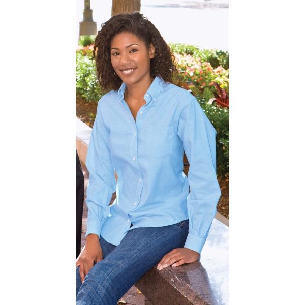 Van Heusen Ladies 60/40 Long Sleeve Oxford Dress Shirt