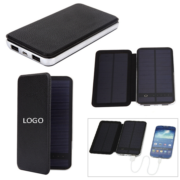 7000mAh Leather Solar Charger