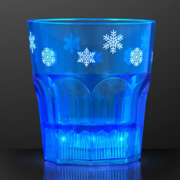 Blue Light Up Snowflake Party Cups