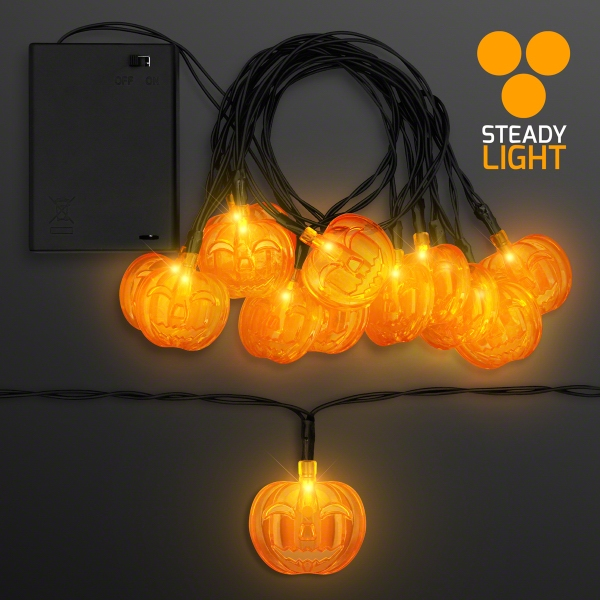 LED Pumpkin Halloween String Lights