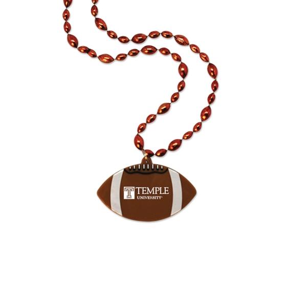 Football Medallion with Football Beads