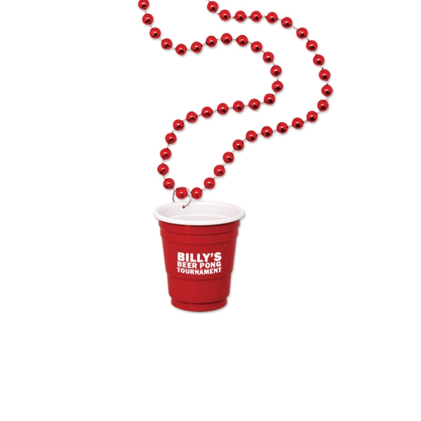 Red Cup Shot Glass on Beads