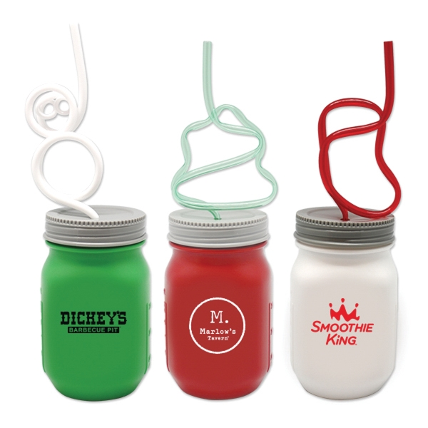 Krazy Straw (R) Holiday Mason Jars