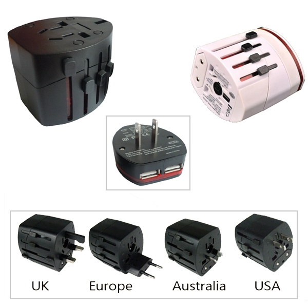 Universal Power Adapter with Dual USB