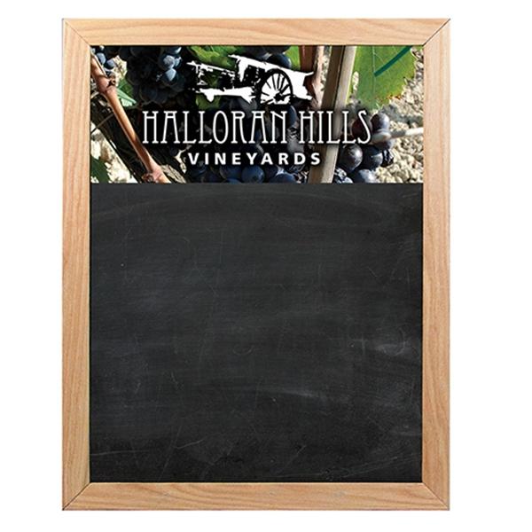 18x24 Oak Frame Wall Chalkboard Bnoticed Put A Logo On It The