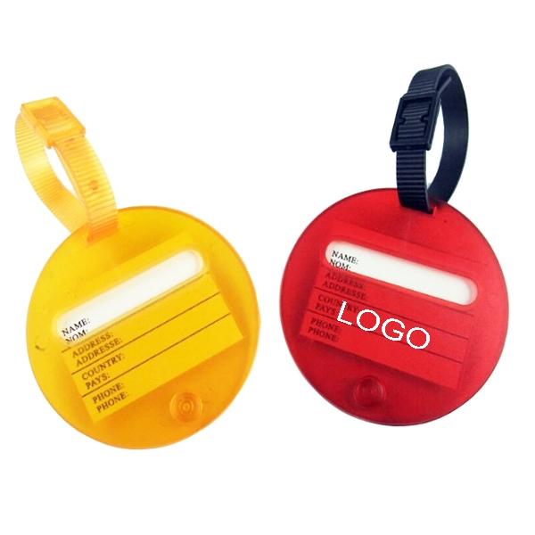 Round Luggage Tag
