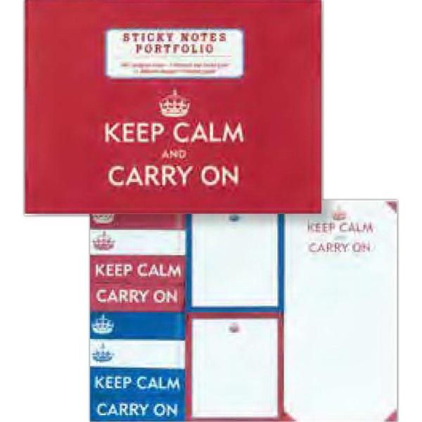 Keep Calm and Carry On Sticky Notes Portfolio