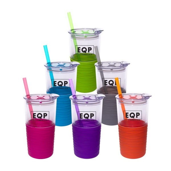20 oz. Double Wall Tumbler with Sleeve & Straw