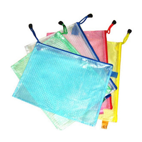 PVC File Bag with Zipper Closure