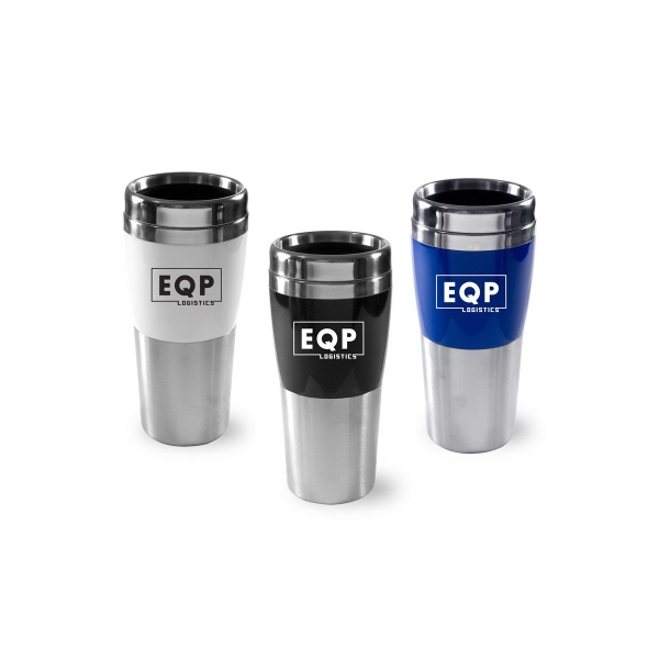 14 oz Stainless Steel Tumbler with Colored Body