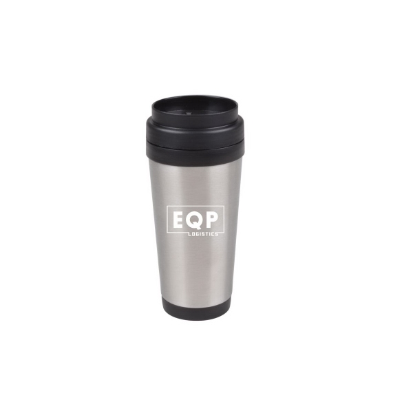 16 oz Stainless Steel Travel Mug with Plastic Liner