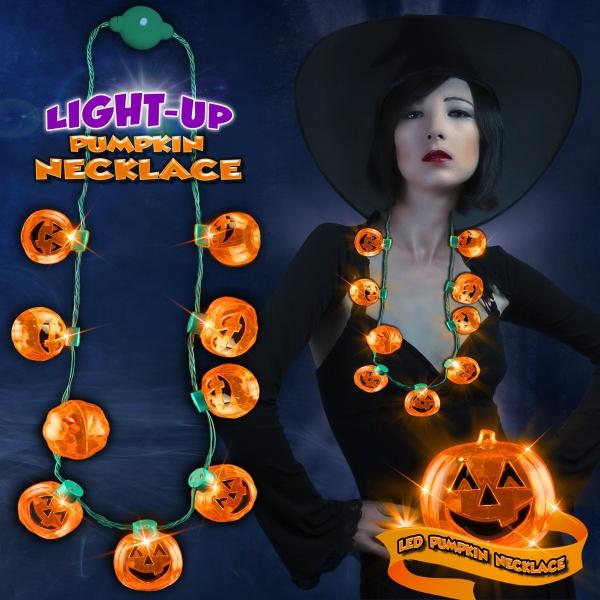 LED Pumpkin Necklace