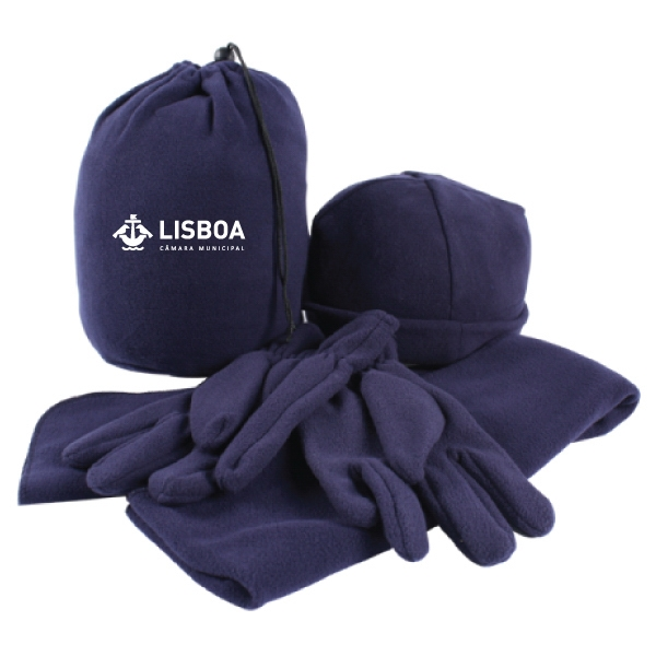 4 PIECE FLEECE WINTER SET IN CINCH SACK