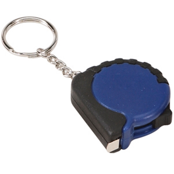 Two Tone Tape Measure with Keychain