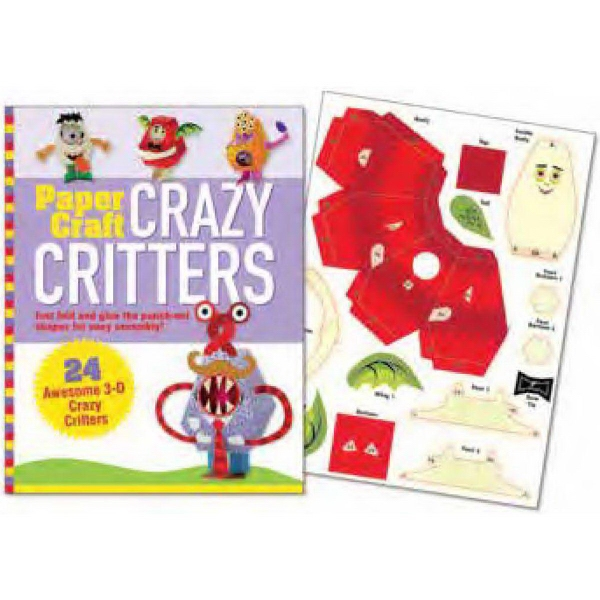 Paper Craft Crazy Critters Book