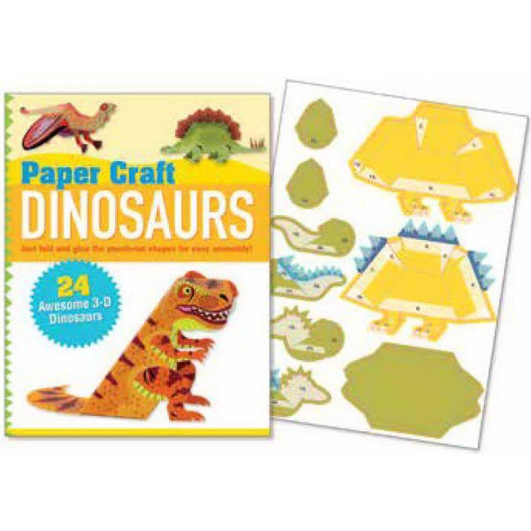 Paper Craft Dinosaurs Book