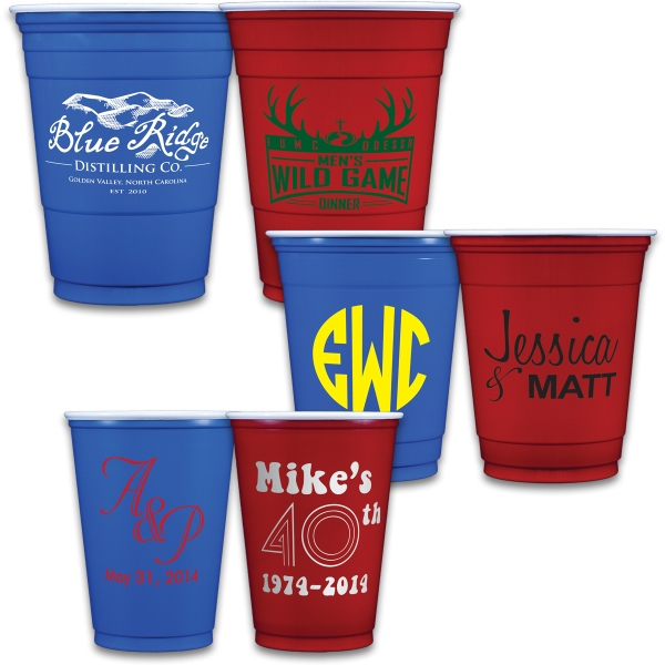 Red/Blue Soft Plastic Cups