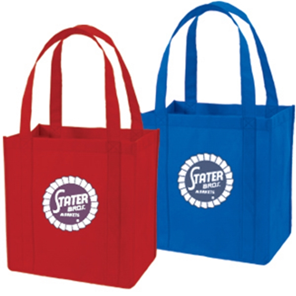 NON-WOVEN TOTE WITH PLASTIC BOTTOM