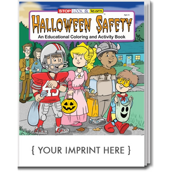 Halloween Safety Coloring and Activity Book