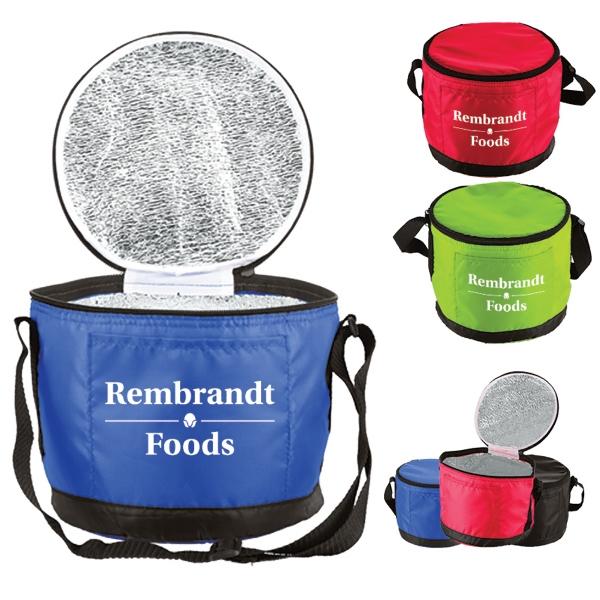 Round Styrofoam Cooler ~ Round lunch cooler