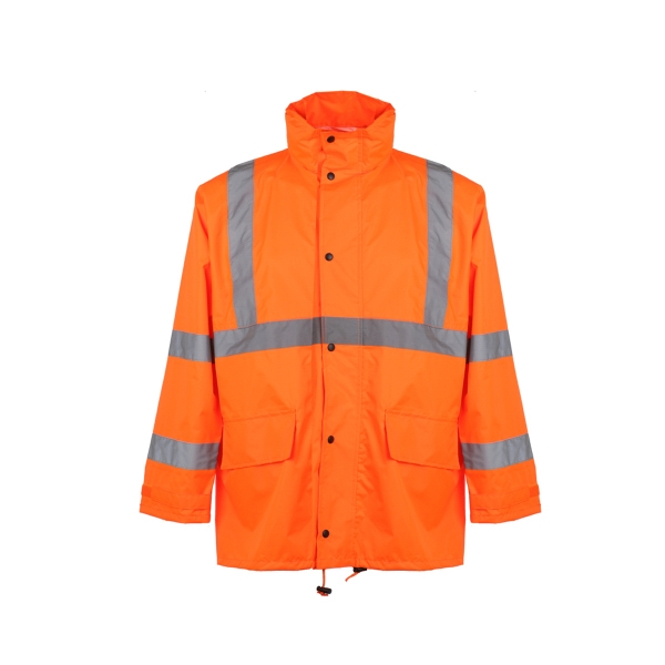 Class 3 Safety Rain Coat - Orange
