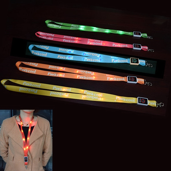 Polyester LED Light Lanyard