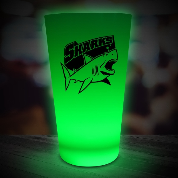 Green LED Light Up Drinking Neon Look 16 oz Pint Glass