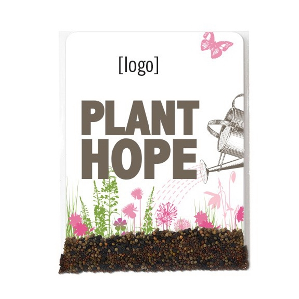 "Breast Cancer Awareness ""Plant Hope"" Stock Art Seed Packet"