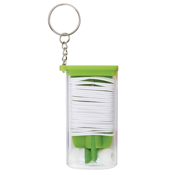 Ear Bud And Cord Organizer Key Chain