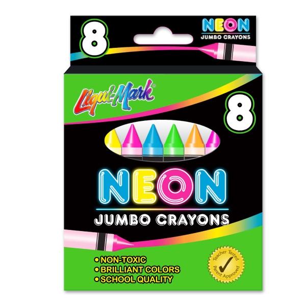 8 Pack Jumbo Neon Crayons