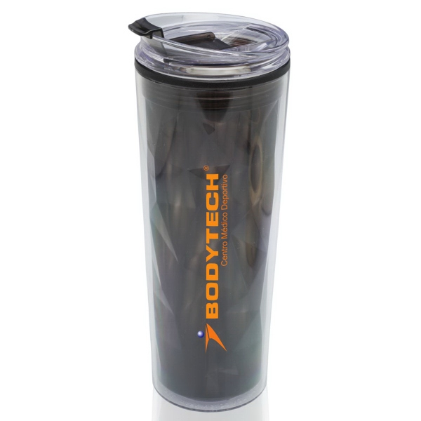20oz Double Wall Plastic Travel Mug Color Matching Lid