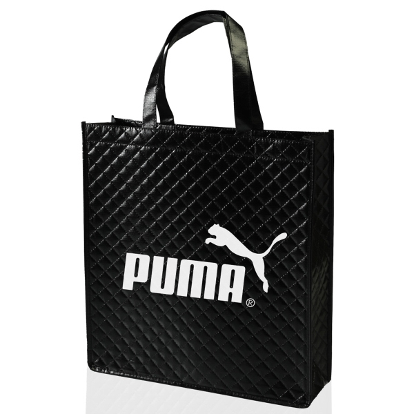 Pleated Non-Woven Laminated Tote Bag