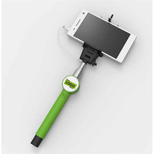 Selfie Stick with Cable - Custom Doming Sticker - SS02-C