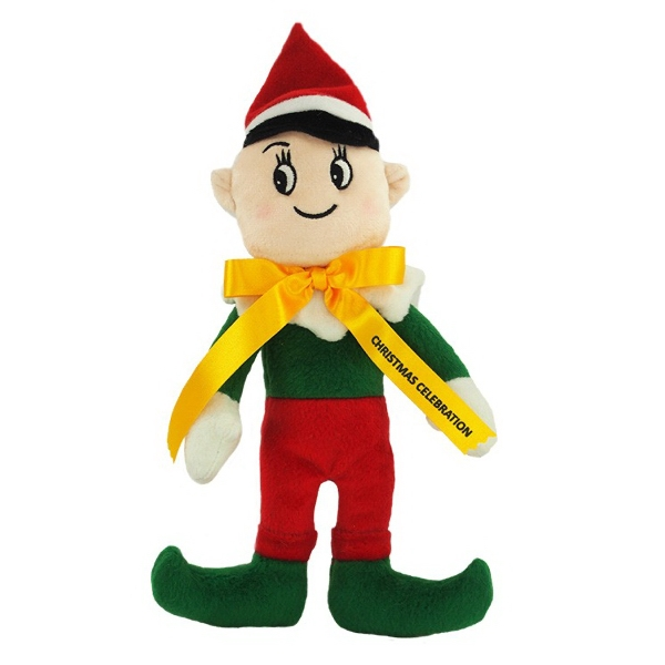 """8"""" Elf with Ribbon and One Color Imprint"""