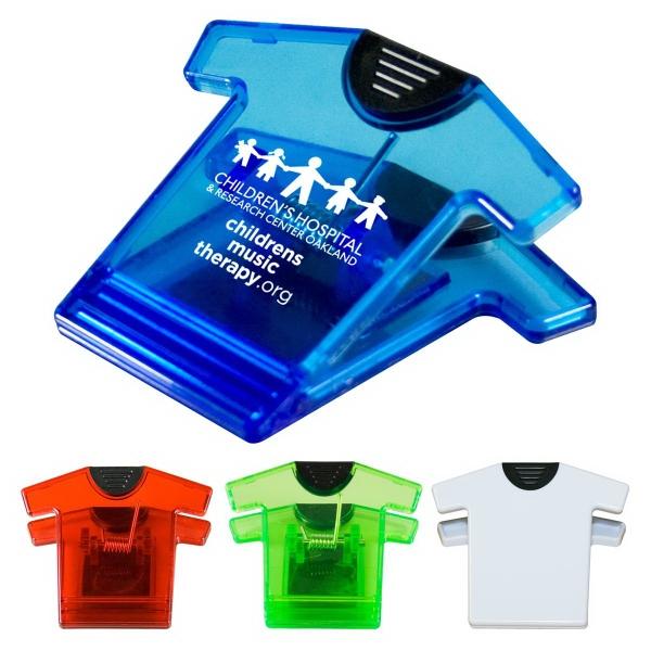 T-Shirt Magnet Clip - T-shirt shaped magnetic clip
