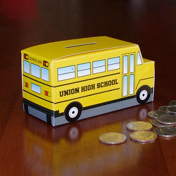 School Bus Paper Bank