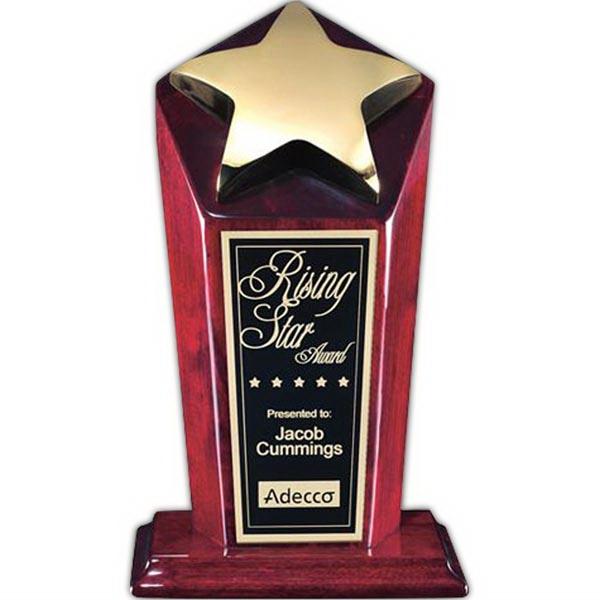 "Strickland Award - Rosewood/Gold 9"""