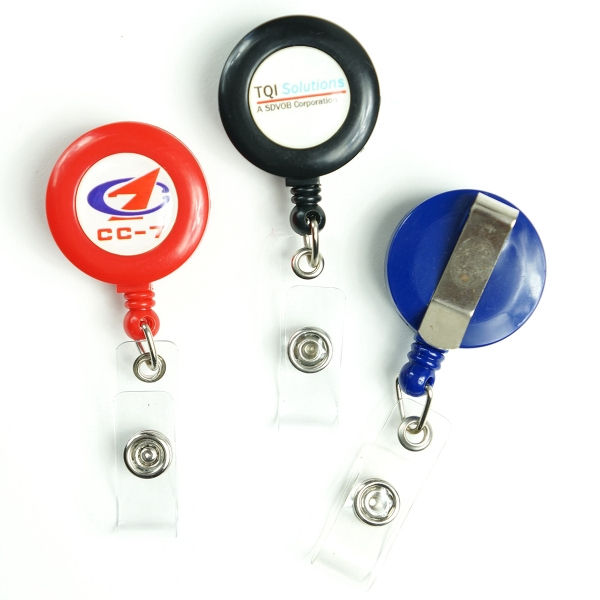 Full-Color Badge Reel & PVC Card Combo